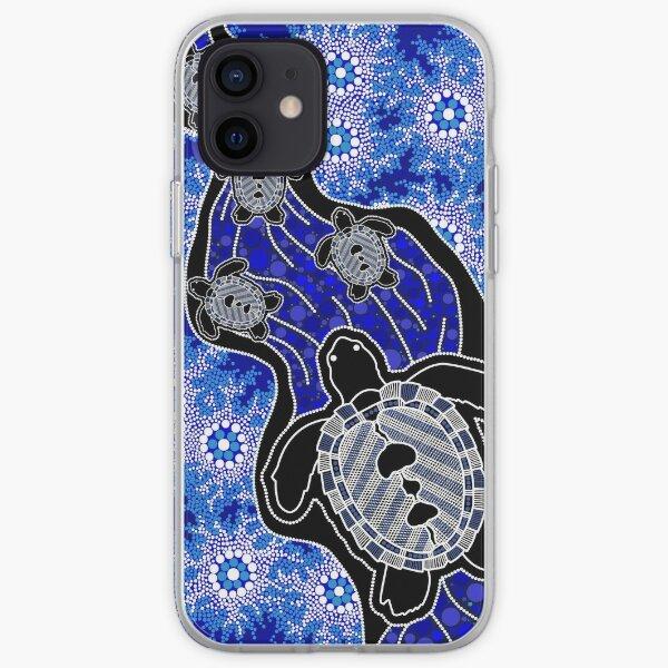 Authentic Aboriginal Art - Baby Sea Turtles iPhone Soft Case