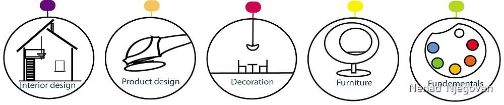 Design bubbles - logo for lidcombe design exhibition 2008 by Nenad  Njegovan