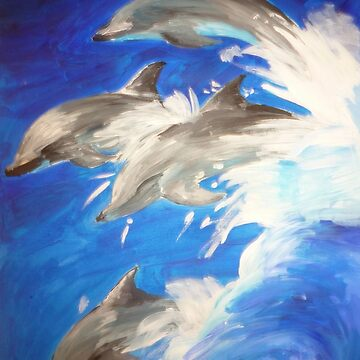 Leaping Dolphins by naasirahramjan