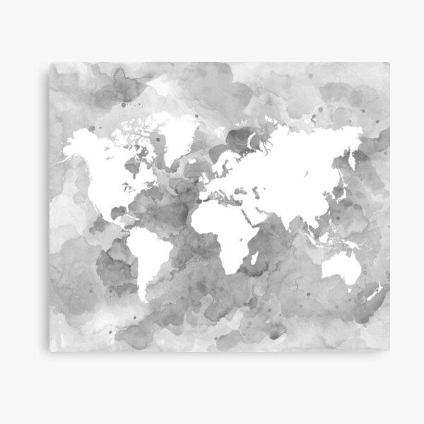 Design 49 World Map grayscale Canvas Print