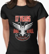 Best T-shirt For 17th Wedding Anniversary, Fashion Anniversary Gifts For Couple Women's Fitted T-Shirt