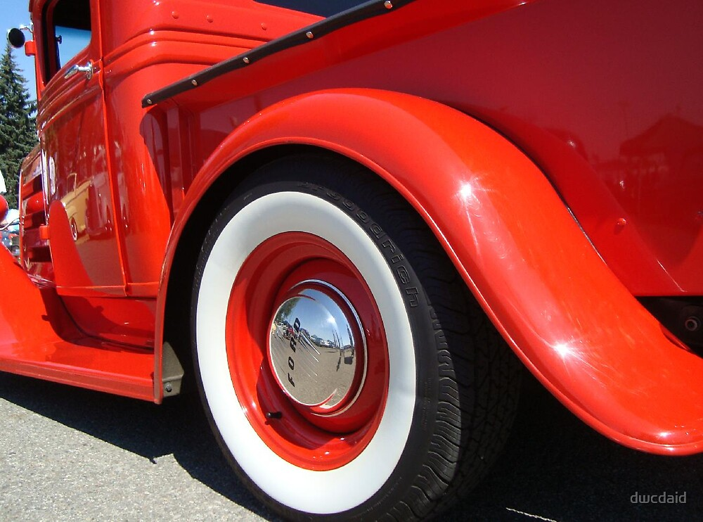 Red Ford Truck by dwcdaid