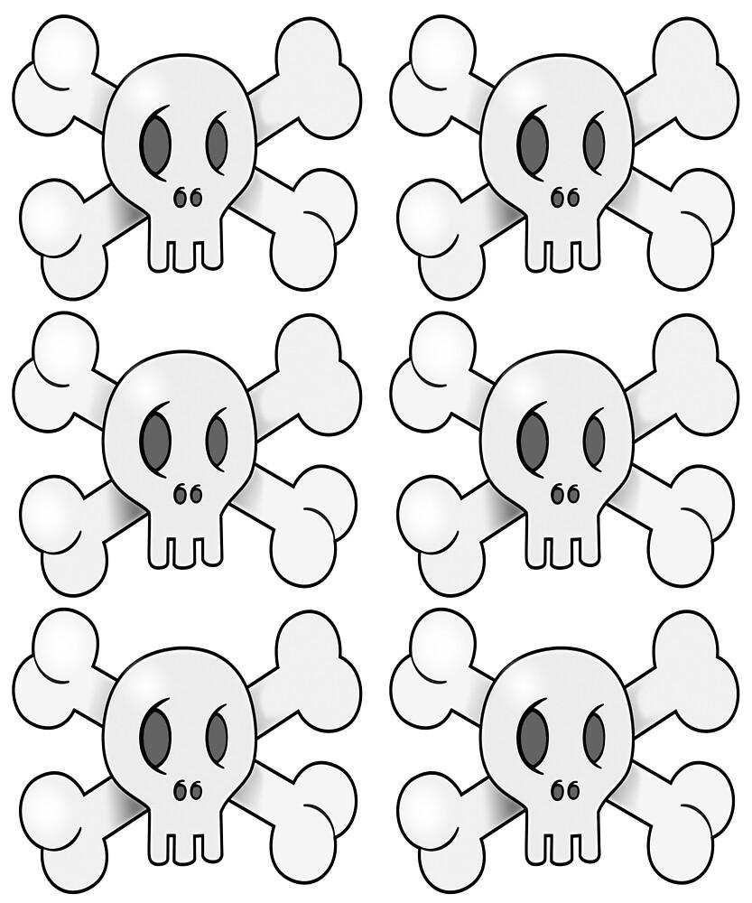 Halloween Cute Scary Horror Skulls  by PopsTees