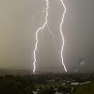 Lightning Over Kyogle by Michael Bath