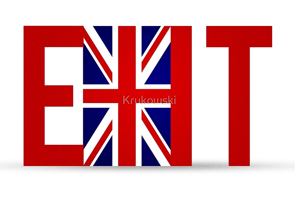 Brexit Britain exit door by Krukowski