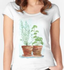 Rosemary and Parsley Women's Fitted Scoop T-Shirt