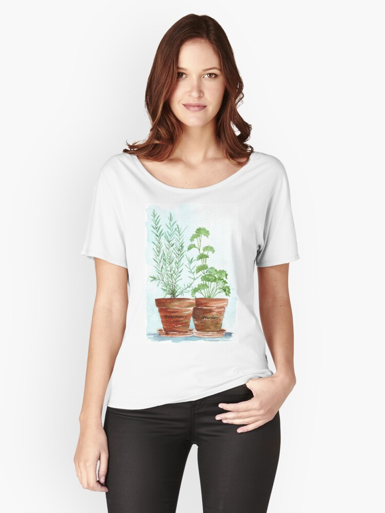 Rosemary and Parsley Women's Relaxed Fit T-Shirt Front