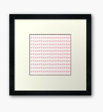 Border Geometric Texture Framed Print