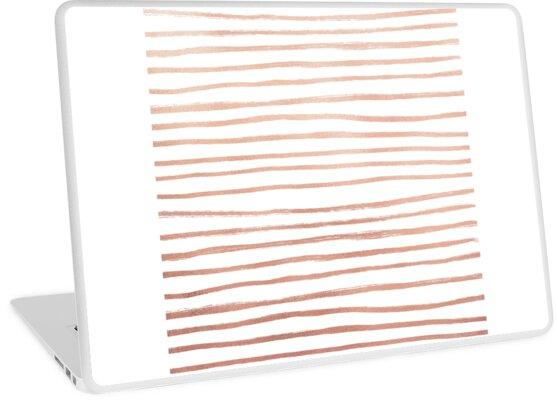 Rose Gold Linear Random Geometric Texture by PineLemon