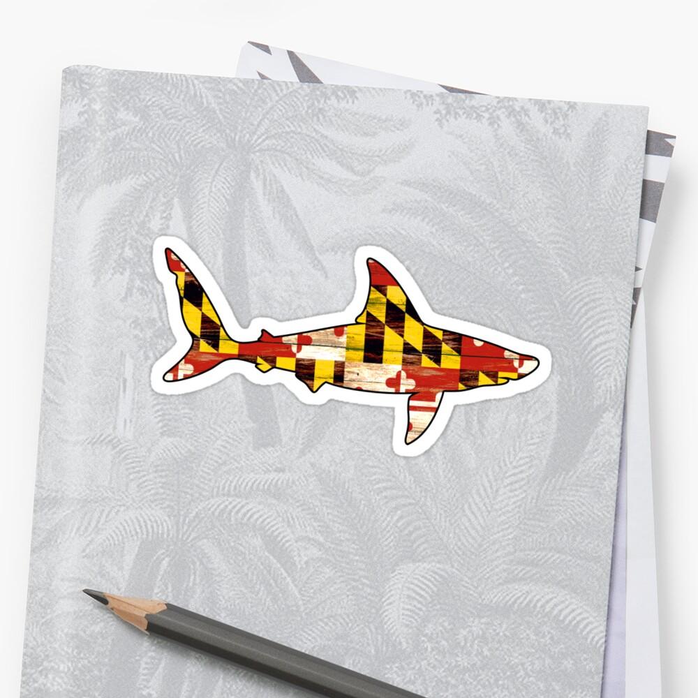 Maryland wood flag shark by artisticattitud