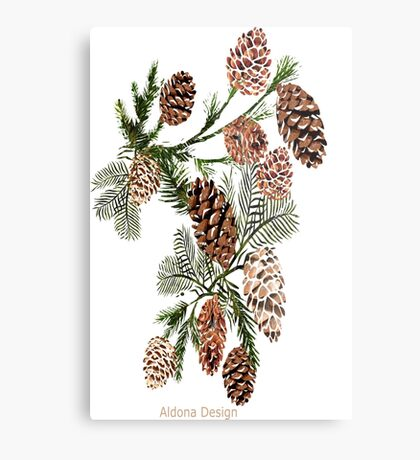 Pine cones ( 554 Views) Metal Print