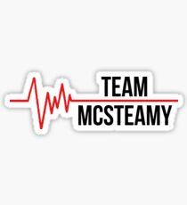 Team McSteamy Sticker
