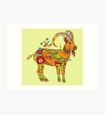 Ibex, from the AlphaPod collection Art Print