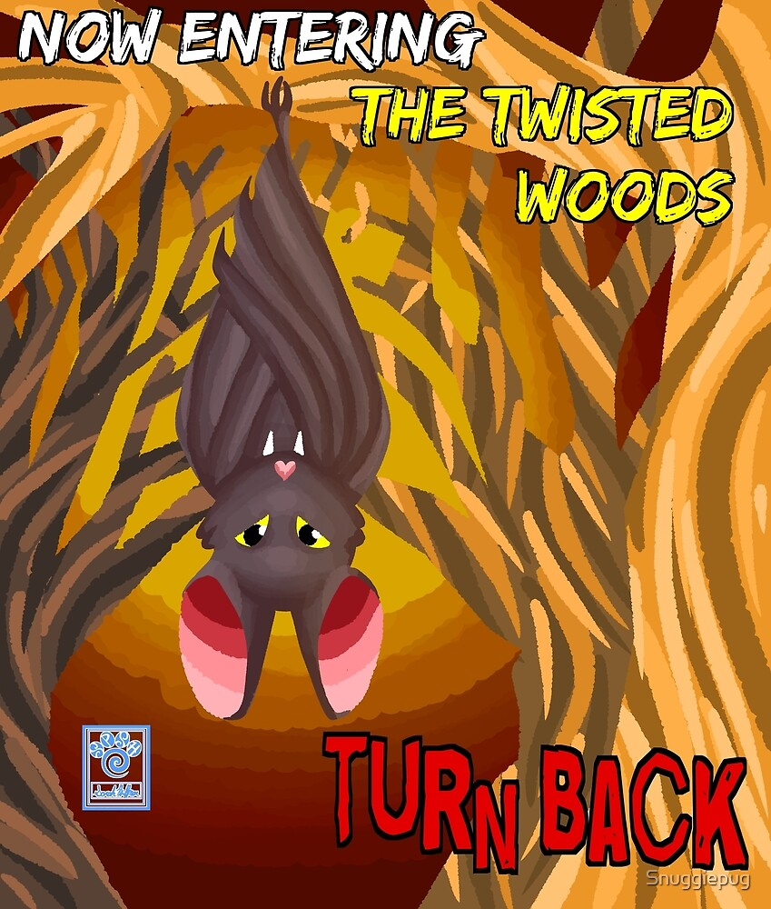 The Twisted Woods Warm Colors WITH WORDS by Snuggiepug