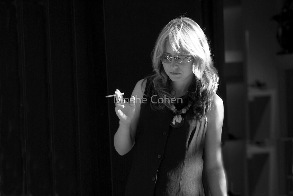 Blonde B&W by Moshe Cohen