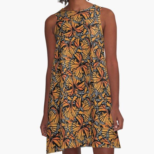 Monarch Butterflies | Vintage Butterflies | Butterfly Patterns |  A-Line Dress