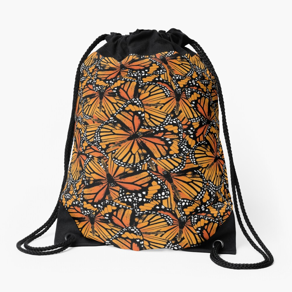 Monarch Butterflies | Vintage Butterflies | Butterfly Patterns |  Drawstring Bag