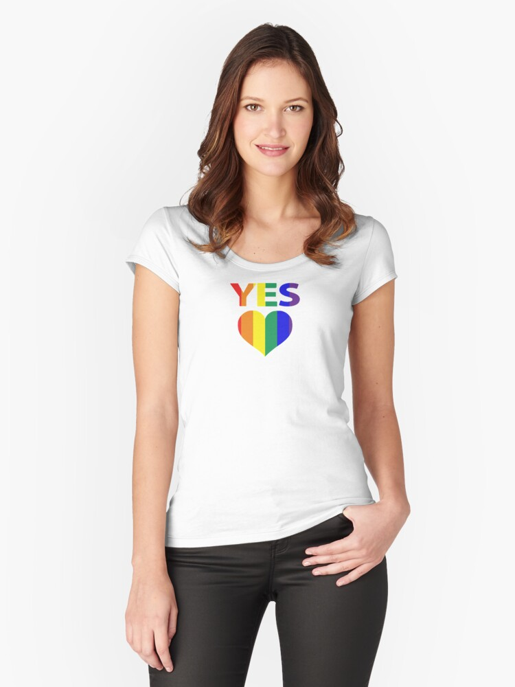 yes vote in marriage equality Women's Fitted Scoop T-Shirt Front