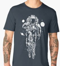 Bicycling Astronaut Men's Premium T-Shirt