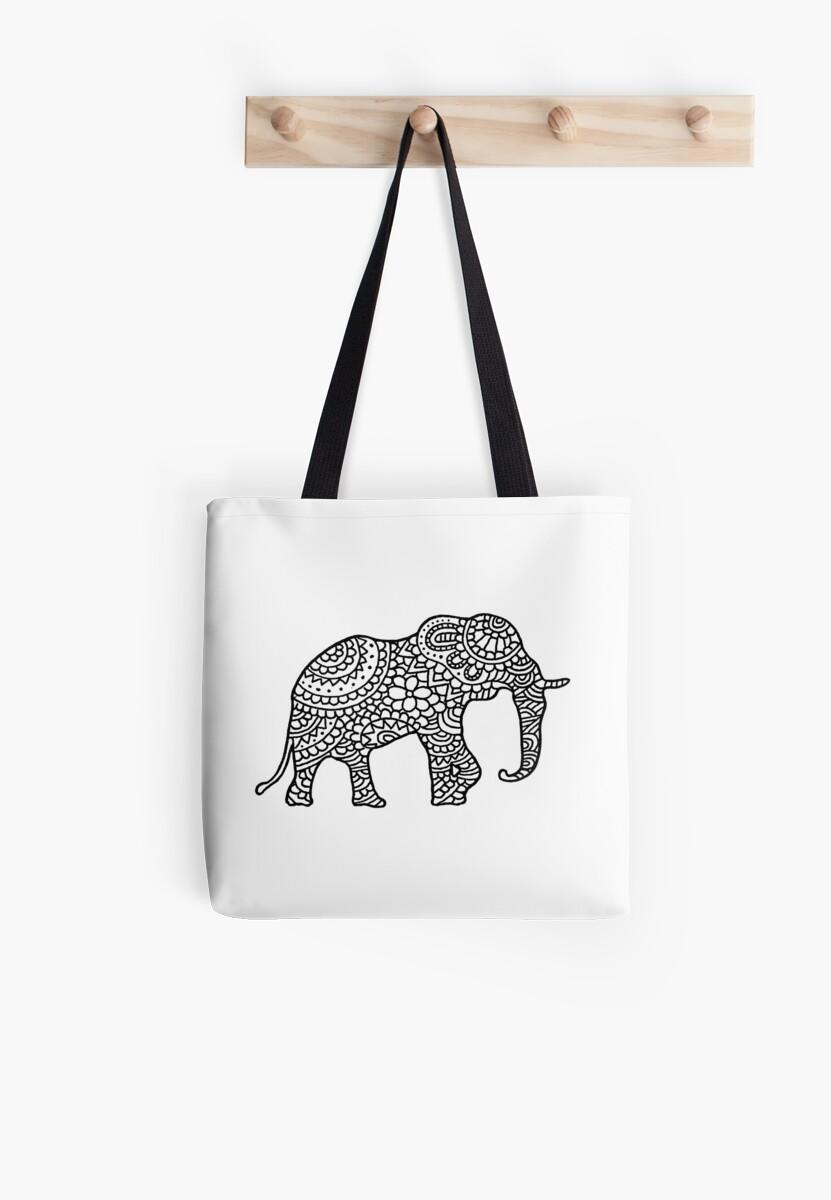 Ethnic Elephant Wild Animal Mandala by PineLemon