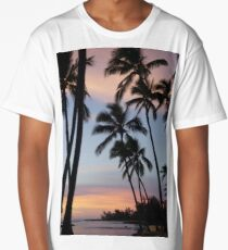 Palm trees in the clouds Long T-Shirt