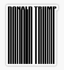 Donald Trump Barcode Logo Sticker