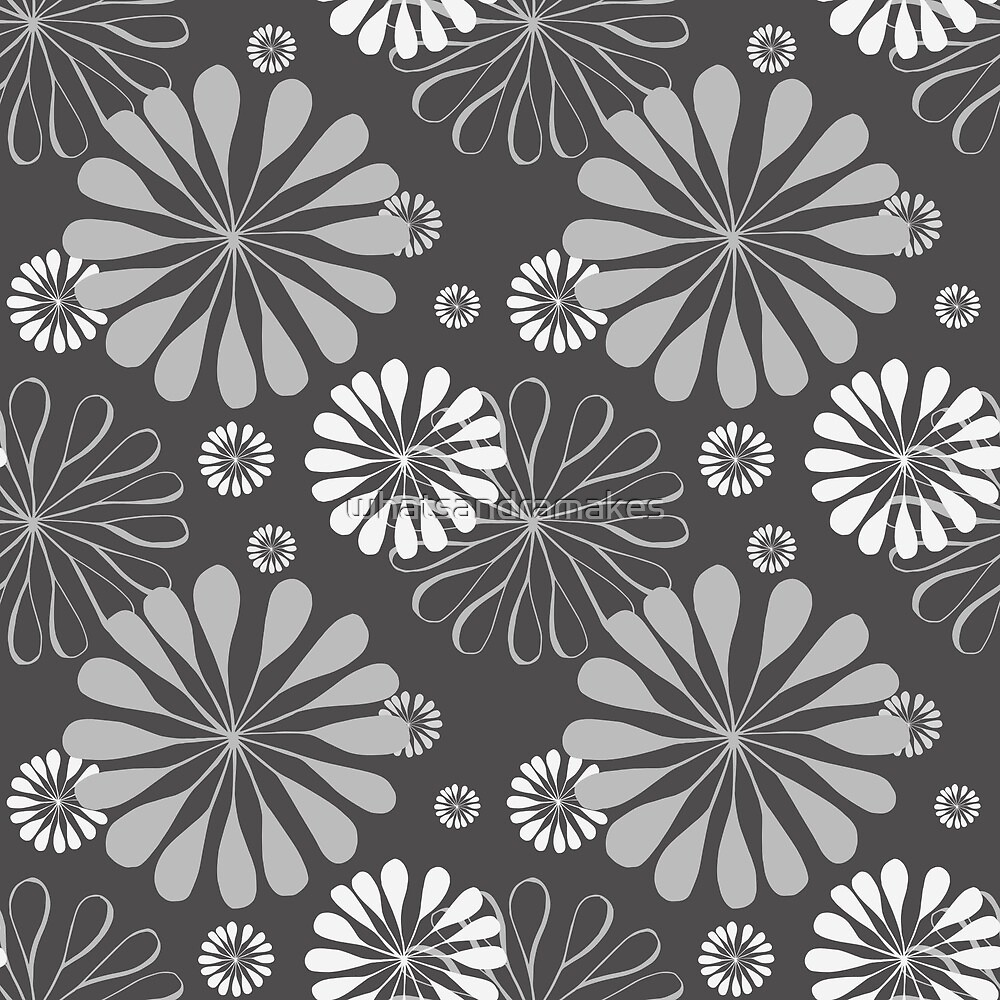 Mod Floral Print by whatsandramakes