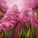 Tropic Garden - Torch Ginger Pink by Carol  Cavalaris