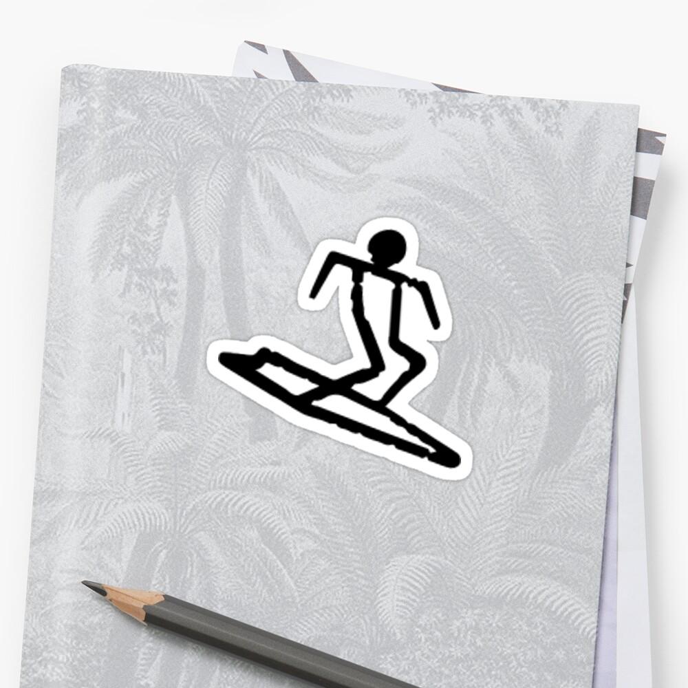 Ancient Hawaiian Petroglyph Surfer by Sean Brittain