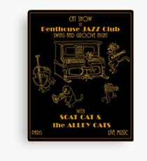Retrò Jazz Cat-Show Canvas Print
