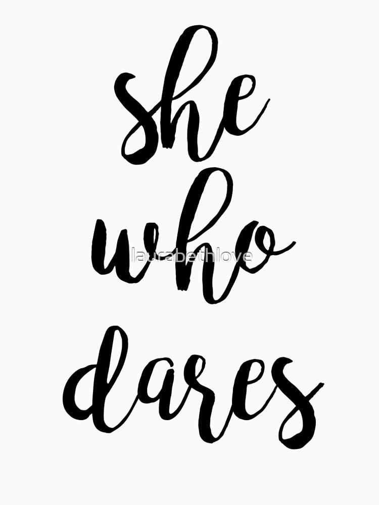 She Who Dares - Indigo Ombre by laurabethlove