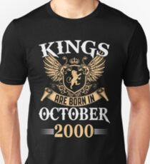 Kings Legends Are Born In October 2000 T-Shirt