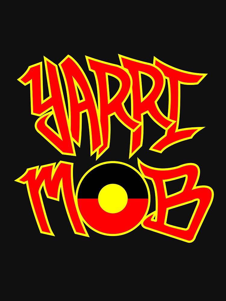 Yarri Mob Graffiti - Aboriginal Flag 5 by wigilwigil