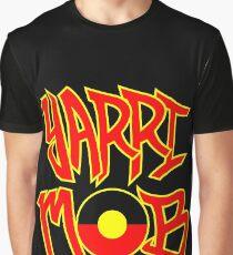 Yarri Mob Graffiti - Aboriginal Flag 5 Graphic T-Shirt