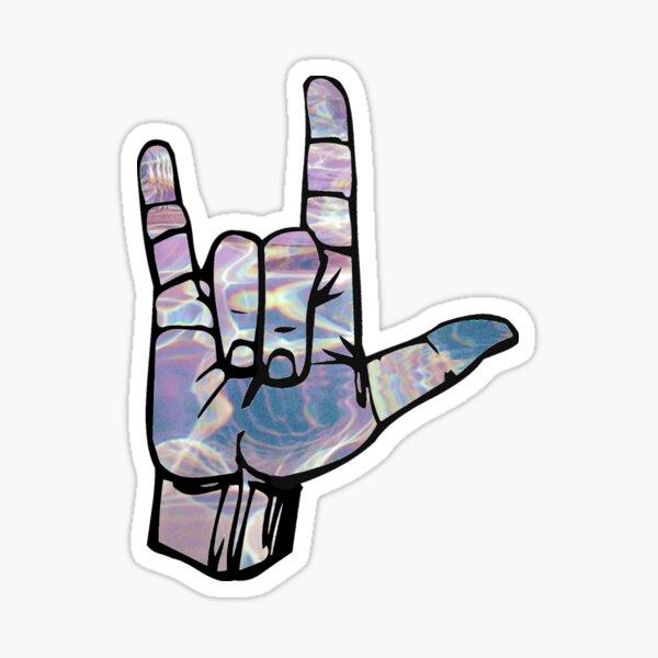 ily hand Sticker