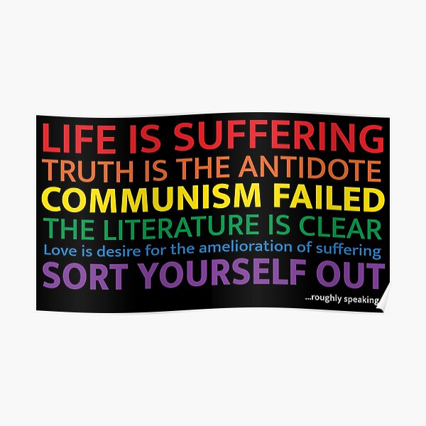 "Jordan Peterson - ""Life Is Suffering"" Poster"