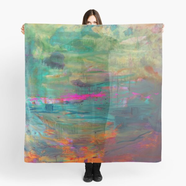 Abstract Dreams in Pink Scarf