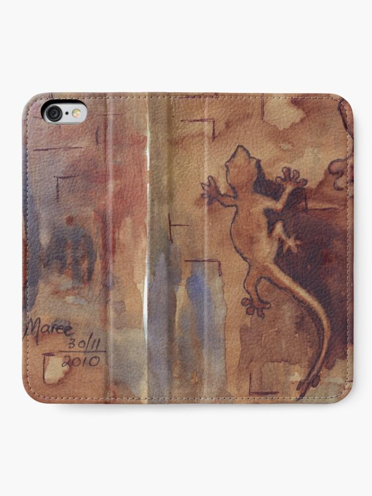 Alternate view of Geckos in my bathroom iPhone Wallet