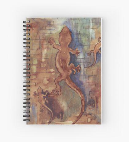 Geckos in my bathroom Spiral Notebook