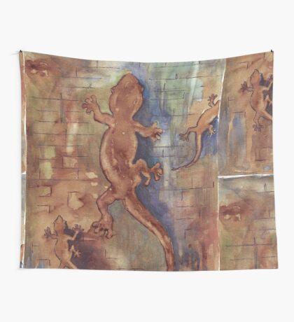 Geckos in my bathroom Wall Tapestry