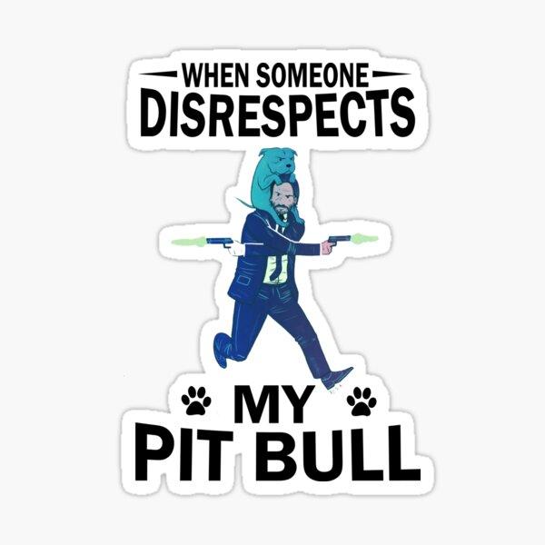 Respect Pit bull Sticker
