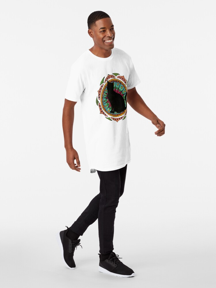 Vista alternativa de Camiseta larga Black Cat Mandala