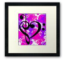 Musical Valentine Framed Print