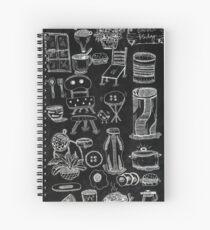 Black Doodle Spiral Notebook