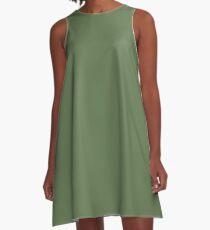 Kale | Pantone Fashion Color Spring : Summer 2017 | Solid Color A-Line Dress
