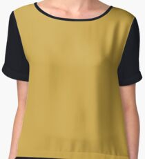 Spicy Mustard | Pantone Fashion Color Fall : Winter 2016 | Solid Color Chiffon Top