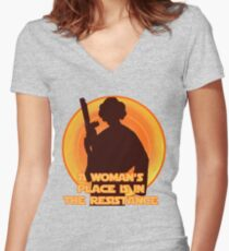 The Resistance Women's Fitted V-Neck T-Shirt