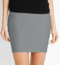 Sharkskin | Pantone Fashion Color Fall : Winter 2016 | Solid Color Mini Skirt