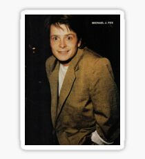 michael j fox Sticker