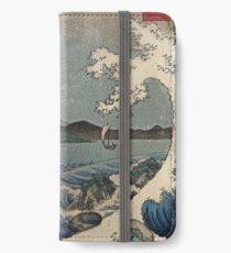 Fuji und das Meer von Satta iPhone Flip-Case/Hülle/Klebefolie